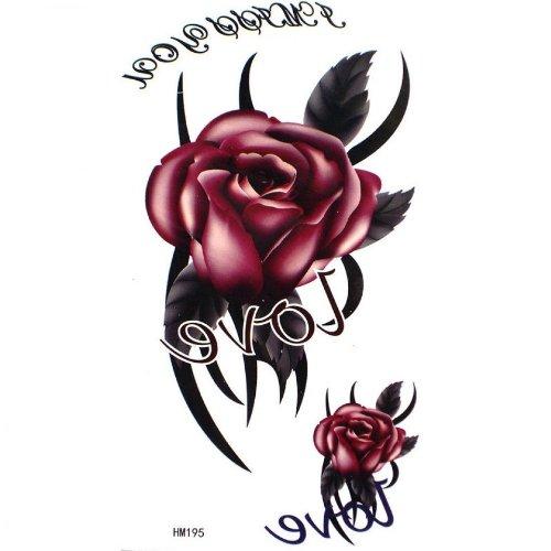 AMOUR rose nuptiale faux tatouages étanche