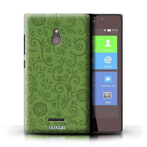 Kobalt® Imprimé Etui / Coque pour Nokia XL / Fleur rouge conception / Série Motif Remous floral Fleur verte