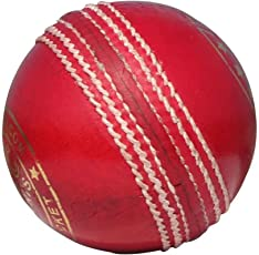 DOC Sports Pure English Leather Cricket Ball (Red, DOC001)