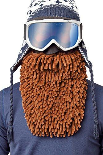 Beardski Mocha Rasta Skimaske mit Bart - Braun