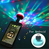 Sliwei LED Small Magic Ball,Micro USB Mini RGB LED Bulb 4W Stage Light Sound Control Club Pub Disco Party Music Crystal for Android