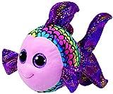 TY 37150 Beanie Boo's Flippy Fisch mit Glitzeraugen, 24 cm, Mehrfarbig