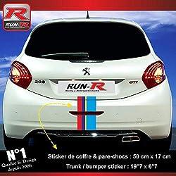 ADNAuto 84411 Autocollants-Sticker Arriere pour Peugeot Sport pour 208-207