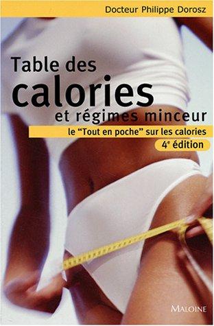 Table des calories et régimes minceur par Philippe Dorosz