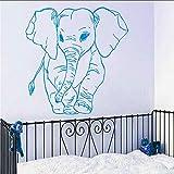 jukunlun Adesivo Murale Modello Piccolo Elefante Per La Decorazione Domestica Della Camera Da Letto Della Scuola Materna Della Parete Del Vinile Decorativo Carta Da Parati Modellata Elefante 57X57Cm