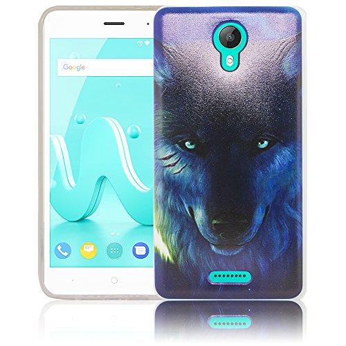 thematys Passend für Wiko Jerry 2 Wolf Silikon Schutz-Hülle weiche Tasche Cover Case Bumper Etui Flip Smartphone Handy Backcover Schutzhülle Handyhülle