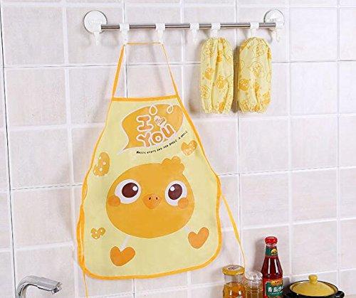 SunnyGod Hausfrau-Schürze Kinderschöne Schürze Cartoon Animal Printing Schürze Set_Yellow Chick
