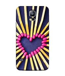 PrintVisa Designer Back Case Cover for Samsung Galaxy S5 Mini :: Samsung Galaxy S5 Mini Duos :: Samsung Galaxy S5 Mini Duos G80 0H/Ds :: Samsung Galaxy S5 Mini G800F G800A G800Hq G800H G800M G800R4 G800Y (Heart can catch fire purple yellow pink)