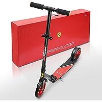 Ferrari Scooter Patinete para niños más de 8 años Dos Ruedas Plegable Escúter aldura ajustable con