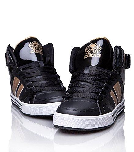 Cultz - Baskets montantes homme Basket 6340 dore et noir - Noir Noir