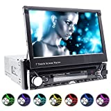 GPS Navigation Auto Stereo/Autoradio/Moniceiver 18 cm/17,8 cm Touch Bildschirm Bluetooth Codefree DVD/CD Player USB SD für Audio, Video, MP3, MPEG4, WMA, AVI, JPEG etc. 7 LED Single DIN