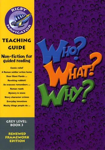 Navigator FWK: Who? Why? What? Teaching Guide (NAVIGATOR FRAMEWORK EDITION)