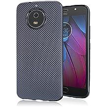 Motorola Moto G6 Plus/G5S Plus Cover,Custodia Bee soft carbon per Motorola Moto G6 Plus/G5S Plus di Xiu7, design ultrasottile e leggero-Nero