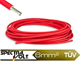 6mm² PV Cable Solar en Rojo?Cable solar?Cable de cobre para módulos solares?Metro?solarxxl