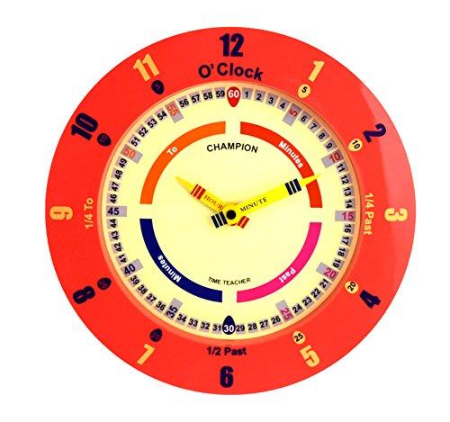 zu sagen, die Zeit Kinderzimmer Kinder Schlafzimmer Quarz-Wanduhr - rot (Die Kinder Lernen Zu Sagen, Zeit, Uhr)