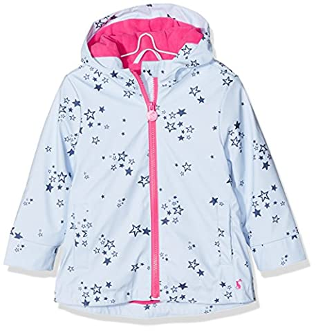 Joules Girl's Raindance Coat, Blue (Sky Blue Star), 6 Years