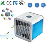 Condizionatore Portatile, 3-in-1 Mini Raffrescatore Evaporativo Umidificatore Purificatore D'aria [Senza Freon & Eco-friendly] USB Climatizzatore con Raffreddamento ad Acqua per Casa/Ufficio/Camper/Garage