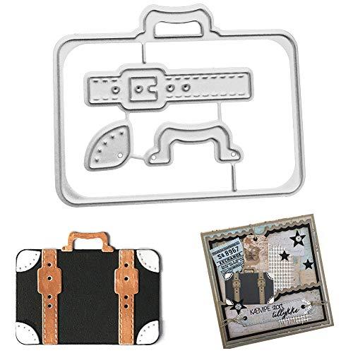 Hausgemachte Halloween Geburtstag Karten - Stanzschablonen für Bastelarbeiten, Koffer, Metall, zum