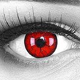 Meralens 1 Paar farbige rote schwarze Crazy F