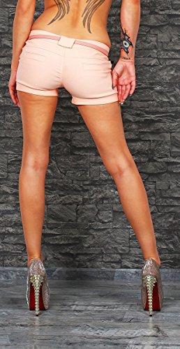 10371Fashion 4young Short Sexy Tissu stretch Minishort Minishort Short pour Panty Jeans abricot