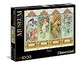 Clementoni - 39177 - Museum Collection Puzzle - Mucha , Le 4 Stagioni - 1000 Pezzi