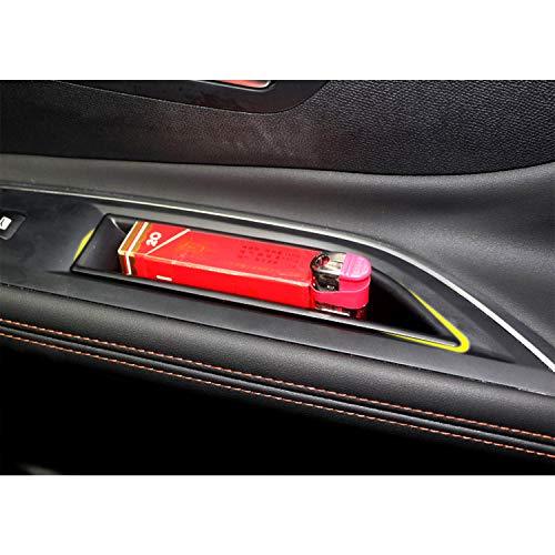 LFOTPP Kompatibel mit 3008 5008 GT Auto Vorderseite Türgriff Armlehne Aufbewahrungsbox Container 2 Stück