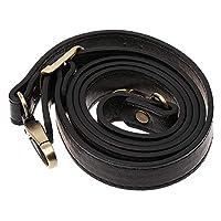 Aeromdale Leather Shoulder Strap with Metal Hooks Handle PU Leather for Shoulder Bag Adjustable Handle Accessory Bag Woman Diy - Black DIY Handbag Gift