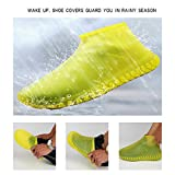 FOONEE Copriscarpe Impermeabili in Silicone Antiscivolo per Stivali da Pioggia, Copriscarpe in Silicone, Riutilizzabili, Copriscarpe da Viaggio (L)