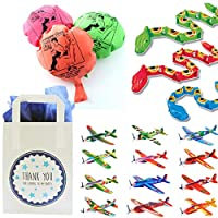 The Curious Caterpillar Boys Party Bags - Ready To Fill Paper Party Bag with Party Bag Fillers and Tissue Paper (George)