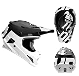 Thor Crosshelm Sector Level Motocross Enduro MX Helm matt schwarz weiss Gr. XL