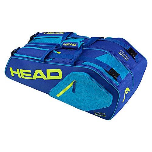 Head Core 6R Combo Tennisschläger Tasche, unisex, Core 6R Combo blau / gelb
