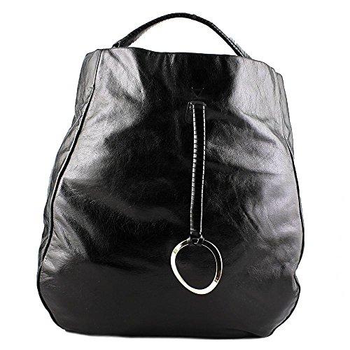 halston-heritage-vassy-hobo-damen-schwarz-schultertaschen
