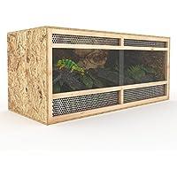 Terrarium aus Holz 120 cm breit aus OSB Platten Holzterrarium mit Seitenbelüftung