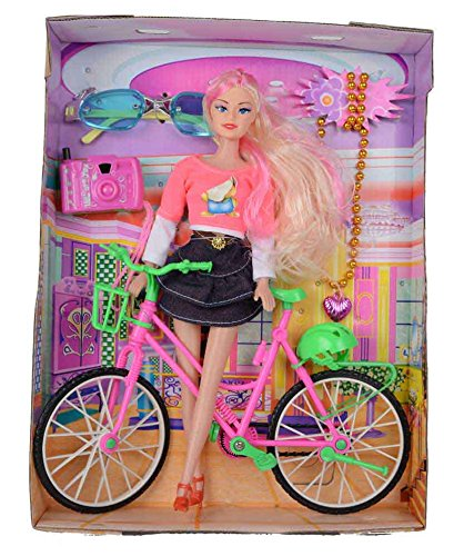 - 5139hFOezsL - SuperToy(TM) Beautiful Doll With Bicycle Watch & Goggles Best Gift For Girls (Color And Design May Vary) home - 5139hFOezsL - Home