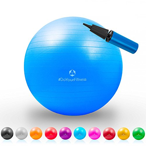 et le fitness//Dimensions de 55 cm /à 85 cm//Disponible en diff/érentes tailles et couleurs les pil/âtes #DoYourFitness Ballon de gymnastique /»Pluto/« avec ball bag//id/éal pour le yogas