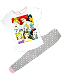 Disney Princess Womens Belle Snow White Ariel Long Pyjamas Plus Sizes From 8 To 22