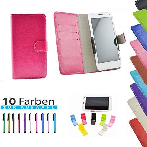 5 in 1 set Slide Tasche Hülle Case Cover Schutz Cover Etui Pink für Haier Phone L52