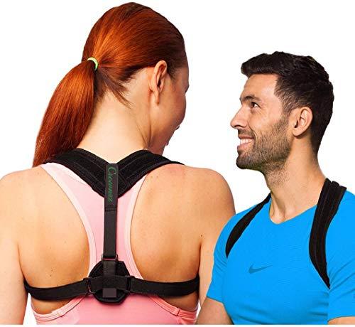 crownzz Unisex Haltung corrector-adjustable Sicherungsriemen für Wirbelsäule support-perfect Airflow Engineered für extra Komfort und bessere posture-best Rückenstütze für kyphosis-hunchback & slouched Schultern