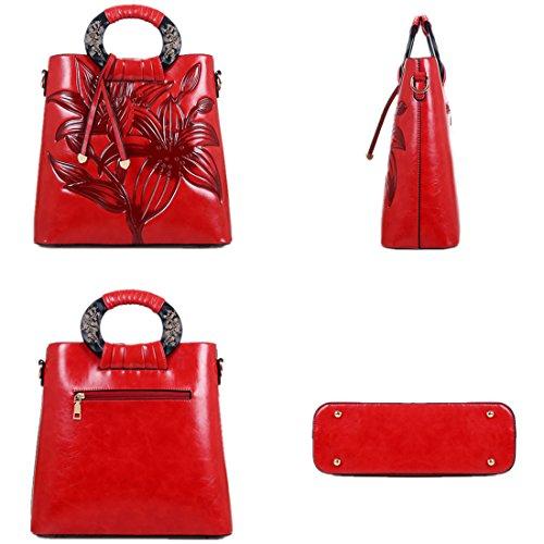 MATAGA retro handtaschen für frauen pu leder geprägt tragen taschen umhängetasche crossbody tasche im chinesischen stil JH-9818 Grün