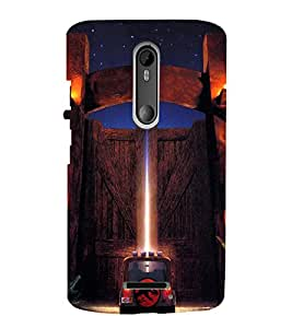 Ebby Premium Printed Mobile Mobile Back Case Cover With Full protection For Moto X3 (Designer Case)