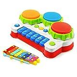 Babyspielzeug mit Musik Animal Farm Klavier Und Hand Beat Drum hochwertiges Kleinkindspielzeug - Musikinstrument - fördert den Tastsinn und das Hörvermögen Ihres Kindes -