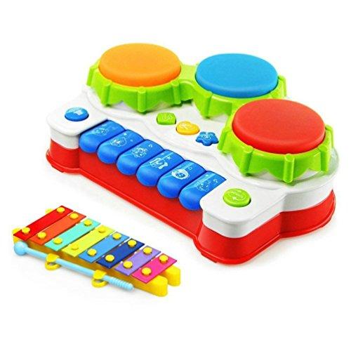 Babyspielzeug mit Musik Animal Farm Klavier Und Hand Beat Drum hochwertiges Kleinkindspielzeug - Musikinstrument - fördert den Tastsinn und das Hörvermögen Ihres Kindes