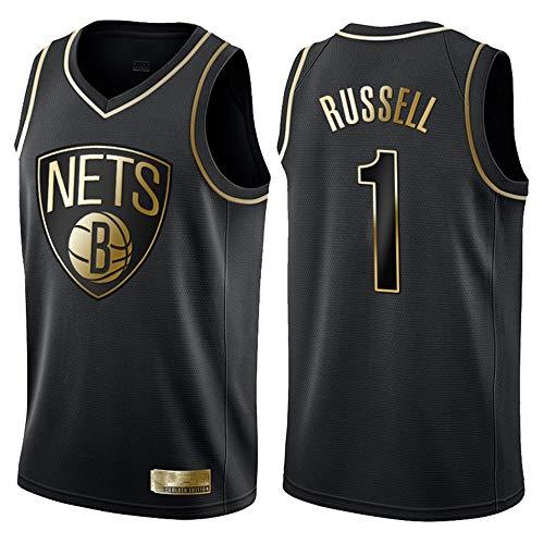 Herren Basketball Trikot NBA Brooklyn Nets 1# Russell Jersey Herren Basketball Anzug