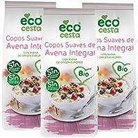 Ecocesta Copos de Avena Suave Integral - Paquete de 3 x 500 gr - Total: