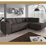 Muebles Bonitos – Sofá chaise longue modelo Galia Marron Derecha