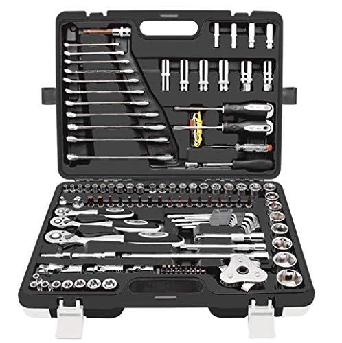 RDMSLKQ 121 Auto-Reparatur-Kit Hardware-Steckschlüssel Reparatur Kombination for Metric Sockets und Heim und Garage Hand-Werkzeug-Satz in Speicher-Fall