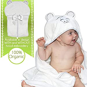 Organic Bamboo Hooded Baby Towel by Liname® - Ultra Soft, Thick & Extra Absorbent - Extra Large Bath Towel for Infants & Toddlers - Keeps Your Baby Warm & Cosy