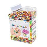 EisEyen Wasser Perlen Spielzeug 260g Gelperlen (ca. 40.000pcs) Mischfarben Regenbogen Wasserperlen Kristallboden für Hochzeit Aquaperlen Heimtextilien Blumenvase Deko