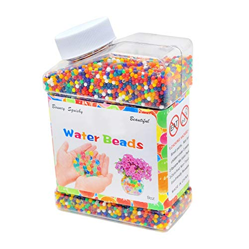 Wasserperlen 50000 Weiche Perlen Regenbogen-Mix Wasserzuchtbälle für Spa-Nachfüllung, Sensorisches Spielzeug für Kinder, Vasen, Pflanzen, Hochzeit und Wohnkultur
