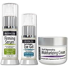 Cuidado de la Piel Antiedad - Tratamiento Eficaz Anti Arrugas (Suero de Ácido Hialurónico,